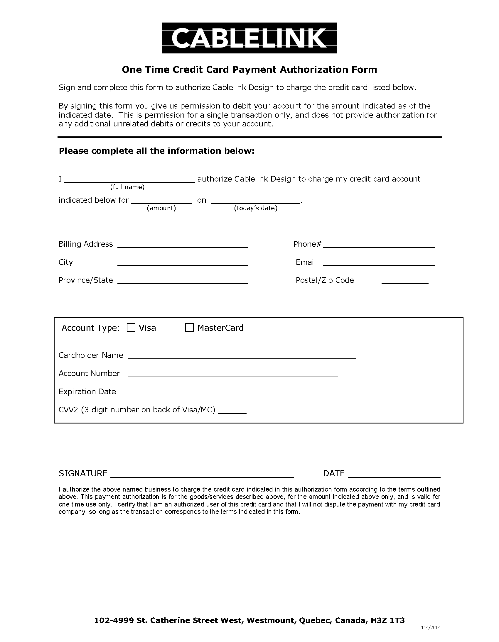 Credit Card Payment Form