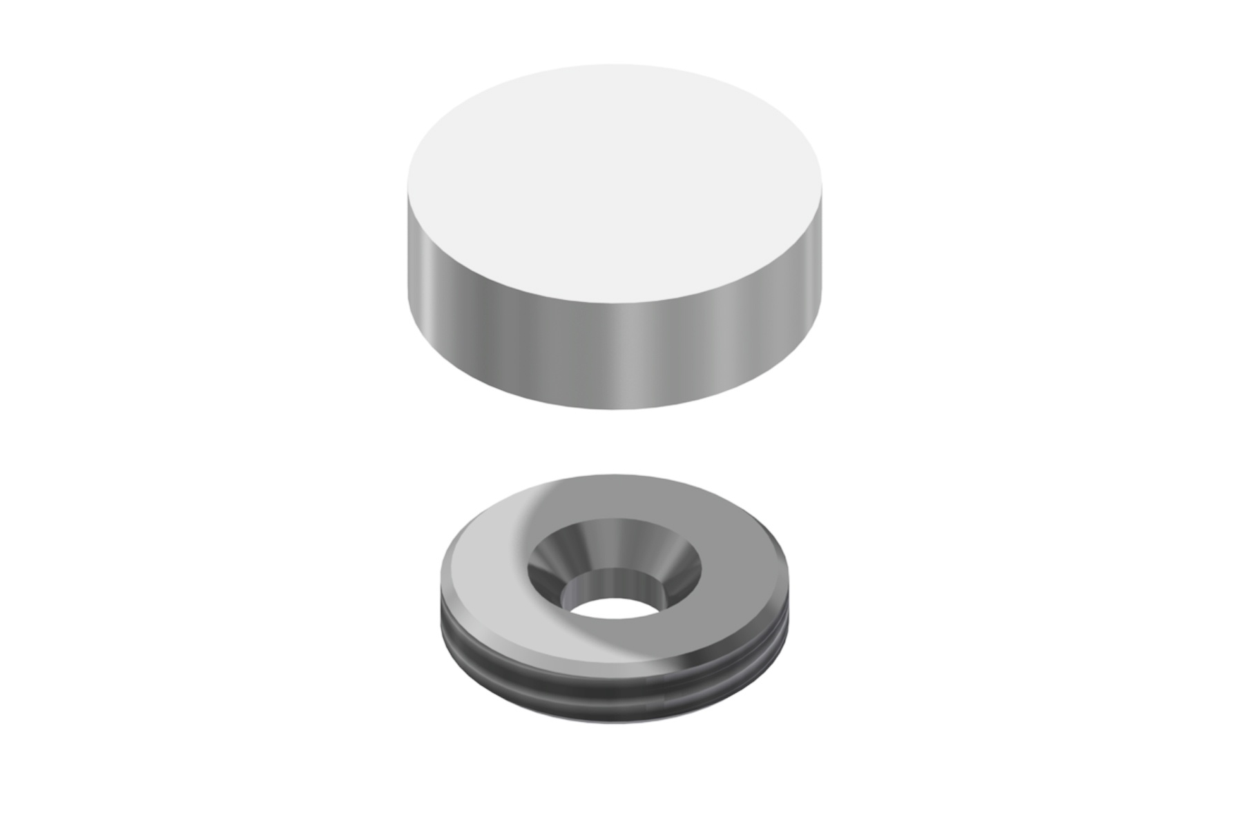 Flush Mount Screw Cap (19mm diameter)