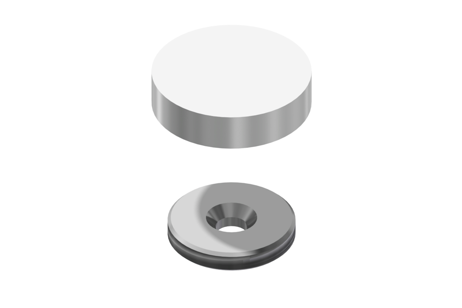 Flush Mount Screw Cap (25mm diameter)